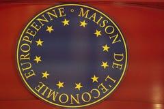 Europeenne Maison De L ` Economie商标 库存照片