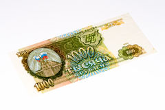 Europees currancybankbiljet, Russische roebel Royalty-vrije Stock Foto