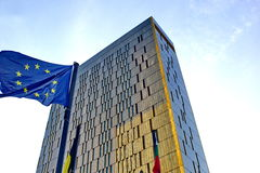 Europees Gerechtshof in Luxemburg Stock Afbeelding