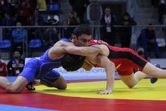 2014 Europees kadet het worstelen kampioenschap Stock Foto