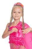 Europees meisje in een Thaise kleding stock afbeeldingen