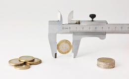 Europees muntstuk en schakelnet stock fotografie
