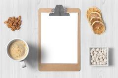 Europees ontbijt met een omhoog spot Royalty-vrije Stock Fotografie