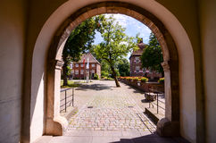 Europees Oud Oud Kasteel Royalty-vrije Stock Fotografie