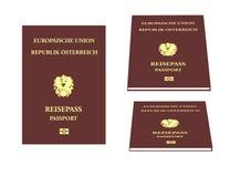 Europees Paspoort Stock Afbeeldingen