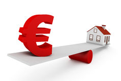 Europees Real Estate Royalty-vrije Stock Afbeelding