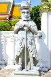 Europees reuzestandbeeld bij Wat Pho-tempel Stock Afbeelding