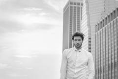 Europeisk affärsman som reser i New York arkivbild