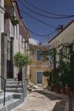 Europeisk bakgata Grekland royaltyfri fotografi