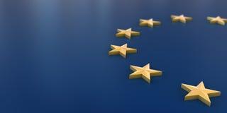 Europeisk bakgrund för facklig flagga Royaltyfria Bilder