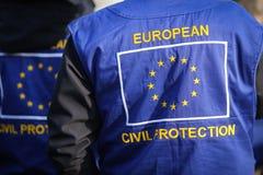 Europeisk borgerligt skydds- och humanitärt biståndoperationunifor arkivbild