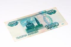Europeisk currancysedel, rysk rubel Fotografering för Bildbyråer
