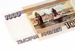 Europeisk currancysedel, rysk rubel Arkivfoton