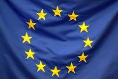 Europeisk detalj för facklig flagga Royaltyfri Bild