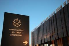 Europeisk domstol royaltyfri fotografi