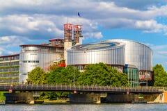 Europeisk domstol av mänskliga rättigheter, Strasbourg, Alsace, Frankrike royaltyfria foton