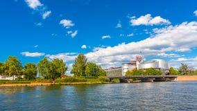 Europeisk domstol av mänskliga rättigheter, Strasbourg, Alsace, Frankrike royaltyfri foto