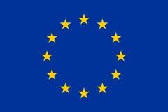 Europeisk facklig flagga, plan orientering, vektorillustration Royaltyfri Fotografi