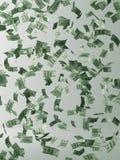 europeisk fallande pengarregnsky Flygpengar vektor illustrationer