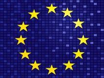europeisk flagga Royaltyfria Bilder