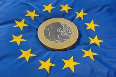 Europeisk flagga Arkivbild