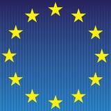 Europeisk flagga. Arkivfoto
