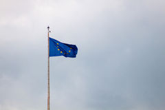 europeisk flagga Fotografering för Bildbyråer