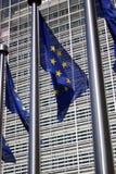 Europeisk flagga brussels royaltyfri fotografi