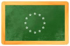 Europeisk flagga för stjärnacirkel Fotografering för Bildbyråer