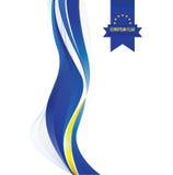 Europeisk flaggabakgrund stock illustrationer