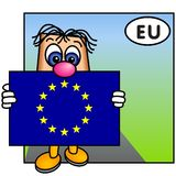 europeisk flaggaunion royaltyfri illustrationer