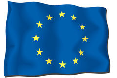 europeisk flaggaunion Arkivfoto