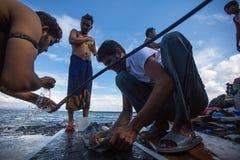 Europeisk flyktingkris - kris för flykting för Kos ö, Grekland europeisk Fotografering för Bildbyråer