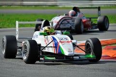 Europeisk formel Abarth i Monza racespår Royaltyfria Foton