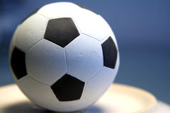 europeisk fotboll arkivfoto