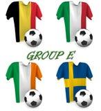 Europeisk fotboll 2016 för grupp E Arkivbilder