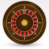 Europeisk (fransk) illustration för vektor för kasinorouletthjul Royaltyfria Bilder