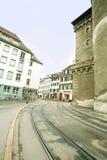 europeisk gatatown Fotografering för Bildbyråer