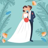 Europeisk gifta sig bild royaltyfri illustrationer