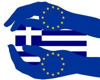 europeisk greece service royaltyfri illustrationer