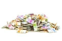 Europeisk hög av pengar Arkivbild