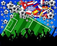 europeisk illustrationfotboll Fotografering för Bildbyråer