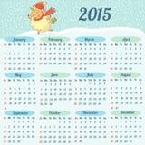 Europeisk kalender 2015 år Royaltyfri Foto