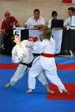 europeisk karatewuko för mästerskap arkivfoton