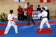 europeisk karatewuko för mästerskap royaltyfria bilder