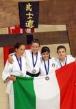 europeisk karatewuko för mästerskap royaltyfri foto