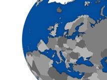 Europeisk kontinent på det politiska jordklotet royaltyfri illustrationer
