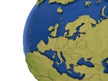 Europeisk kontinent på jord vektor illustrationer