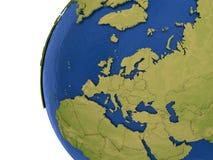 Europeisk kontinent på jord stock illustrationer