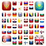 Europeisk kontinentapp-symbol Arkivbild